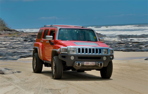 Our Hummers on Fraser Island