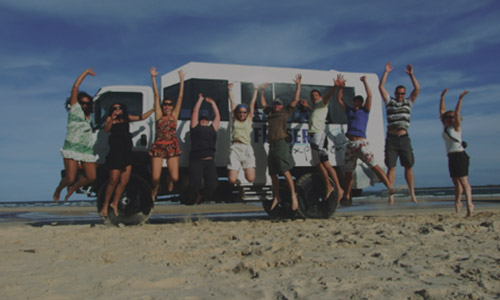 Our Tour Bus on Fraser Island
